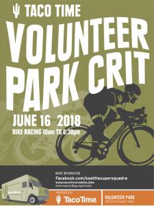 Volunteer Park Criterium Poster