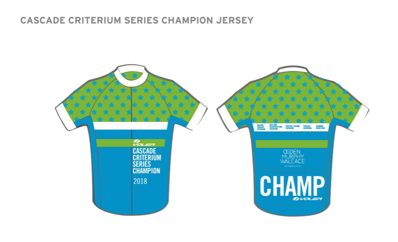 Cascade Criterium Series Champion Jersey